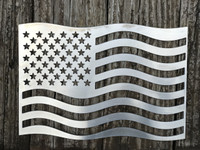 American Flag created using aluminum by Fire Pit Art