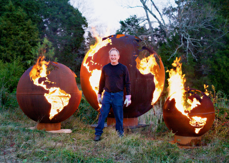 Image Result For World Globe Fire Pit