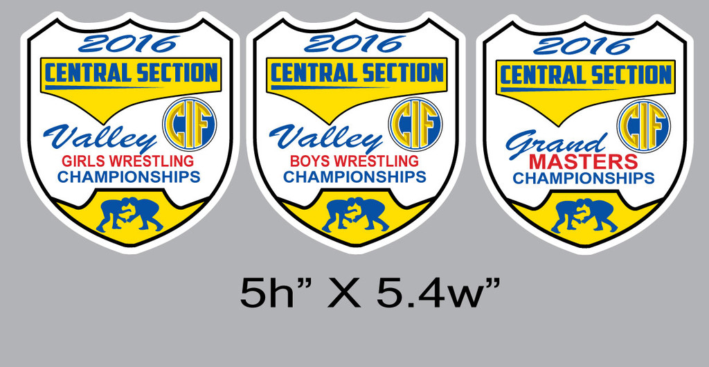 CIF 2016 Chenille Patches