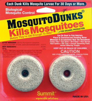 Mosquito Control Dunks 2 pack