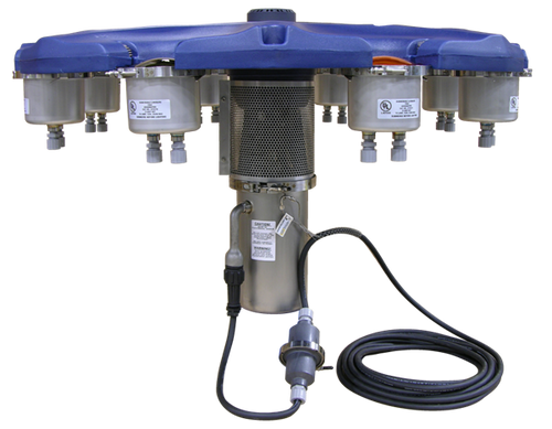 1HP Aquamaster fountain pictured with optional lighting