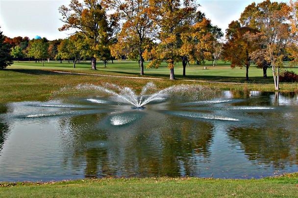 Aquamaster fountain with Diamondback Pattern