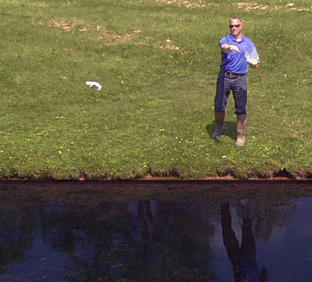 Easy pond treatment application - simply toss the packets into the pond and let them get to work!