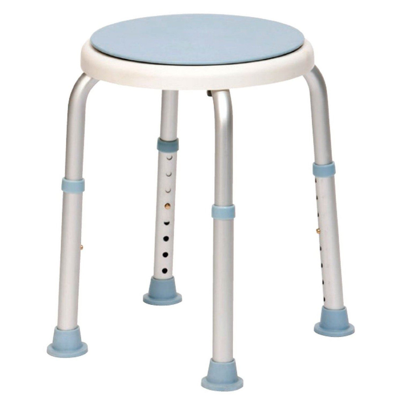 Bath Stool With Adjustable Height and Rotating Swivel Seat - Forest ...