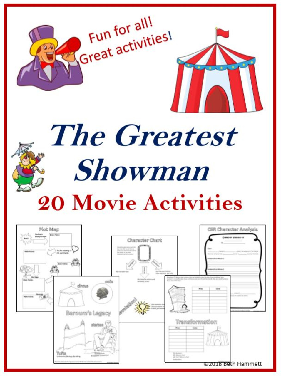 The Greatest Showman: 20 Activities