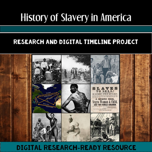 slavery and the slave trade in america us history research and timeline project