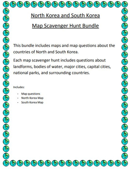 North and south korea map scavenger hunt bundle amped up learning north and south korea map scavenger hunt bundle gumiabroncs Image collections