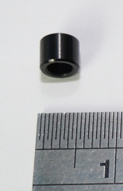 4mm M3 F/F Alumi Standoff Black Anodized 5.5mm O.D. (not threaded)