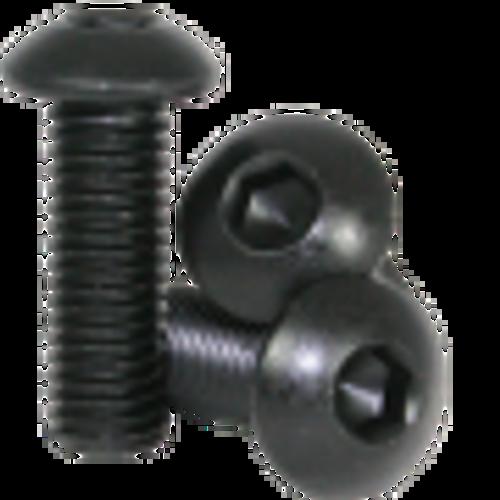 7mm M3 Steel Button Head Screw Black Anodized (10 pieces)