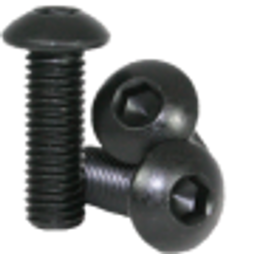 11mm M3 Steel Button Head Screw Black Anodized (10 pieces)