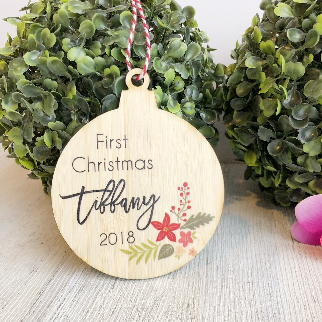 Christmas Bauble - First Christmas Christmas Arrangement