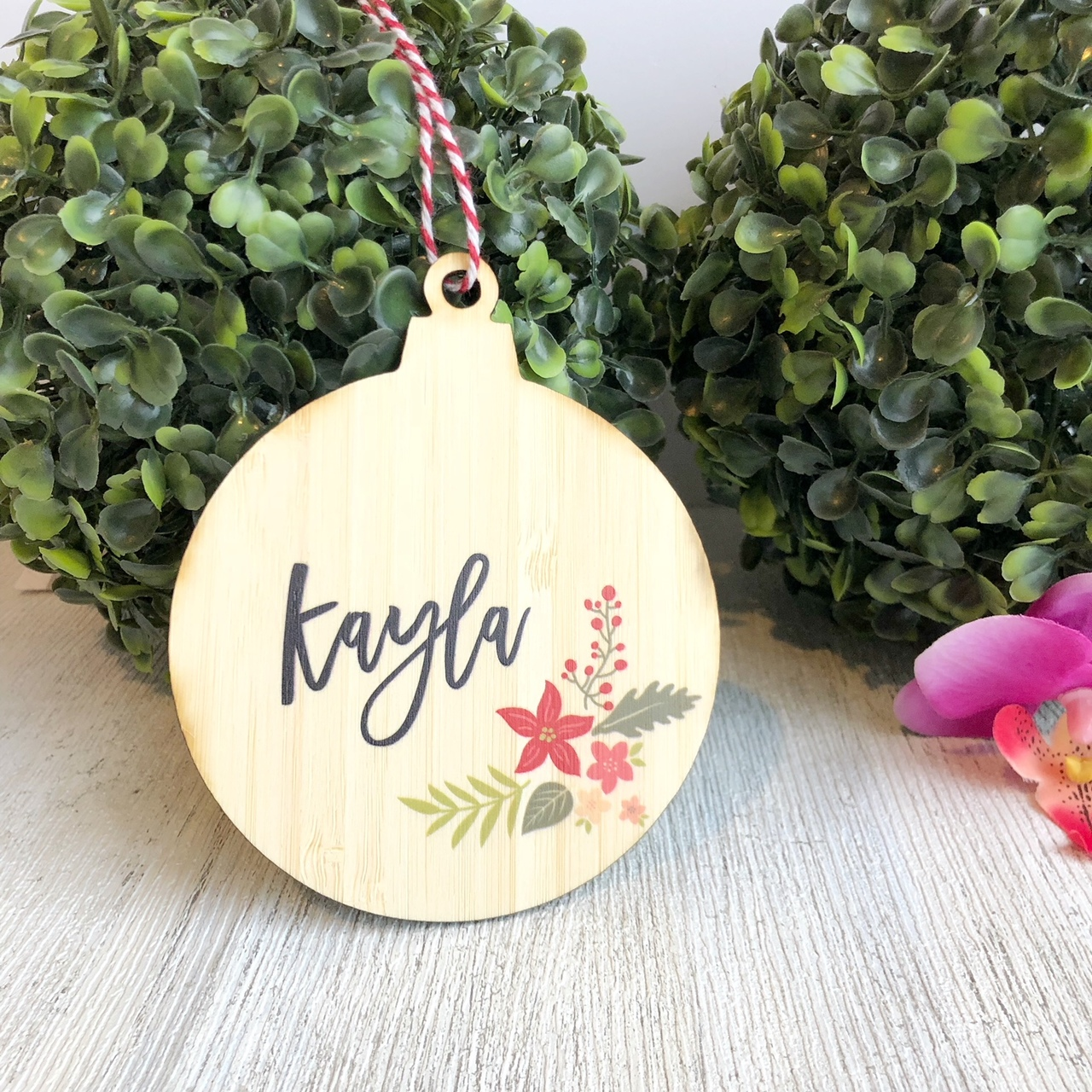 Christmas Bauble - Personalised Christmas Arrangement