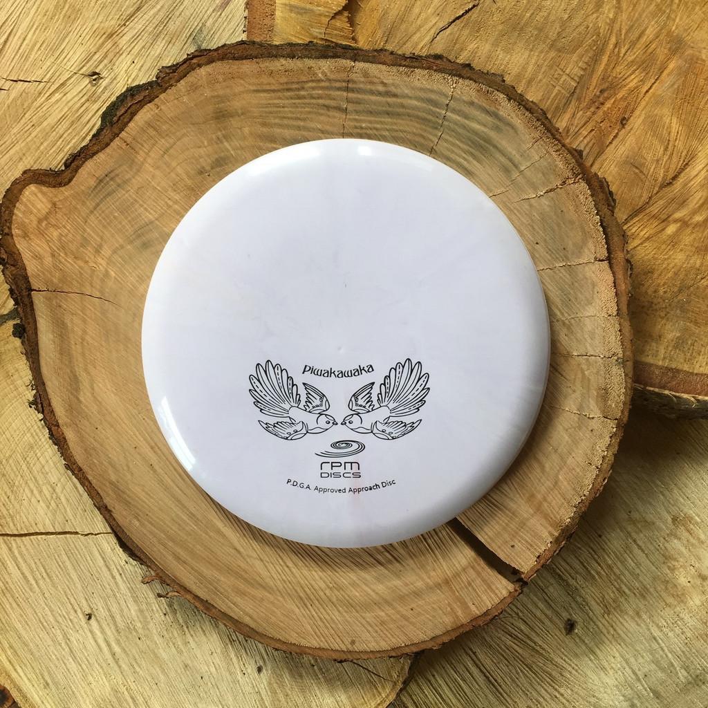 RPM Discs Piwakawaka midrange disc lavender with black stamp