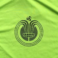 Lime tee Chain Ray front graphic