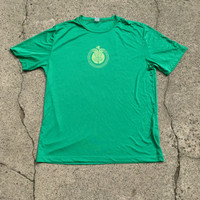 Kelly green tee with neon Huk Lab Chain Ray front graphic