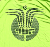 Lime tee Chain Ray back graphic