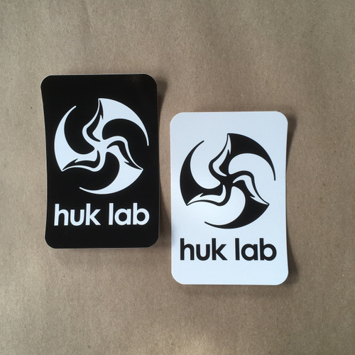 Huk Lab vinyl Logo Stickers black and white