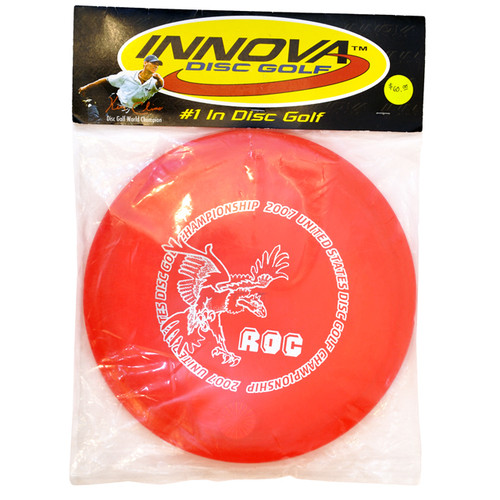 2007 United States Disc Golf Championship Red Rancho Roc with White Big Bird Stamp