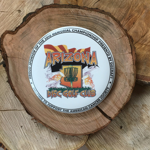 Discraft Buzzz with a 2010 SuperColor Arizona Disc Golf Club design