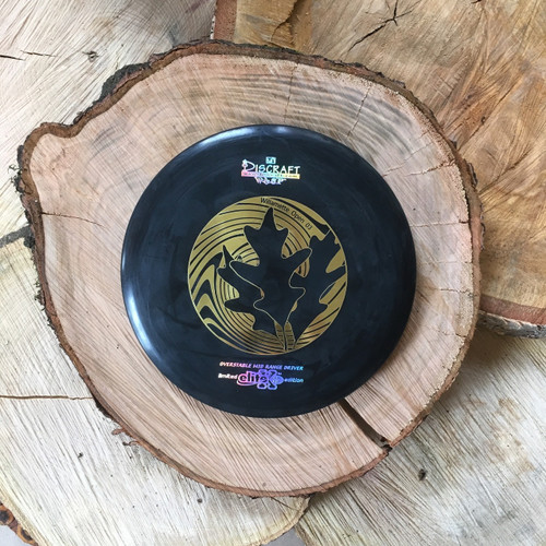 Discraft Elite ESP Wasp black with a gold 2003 Willamette Open stamp