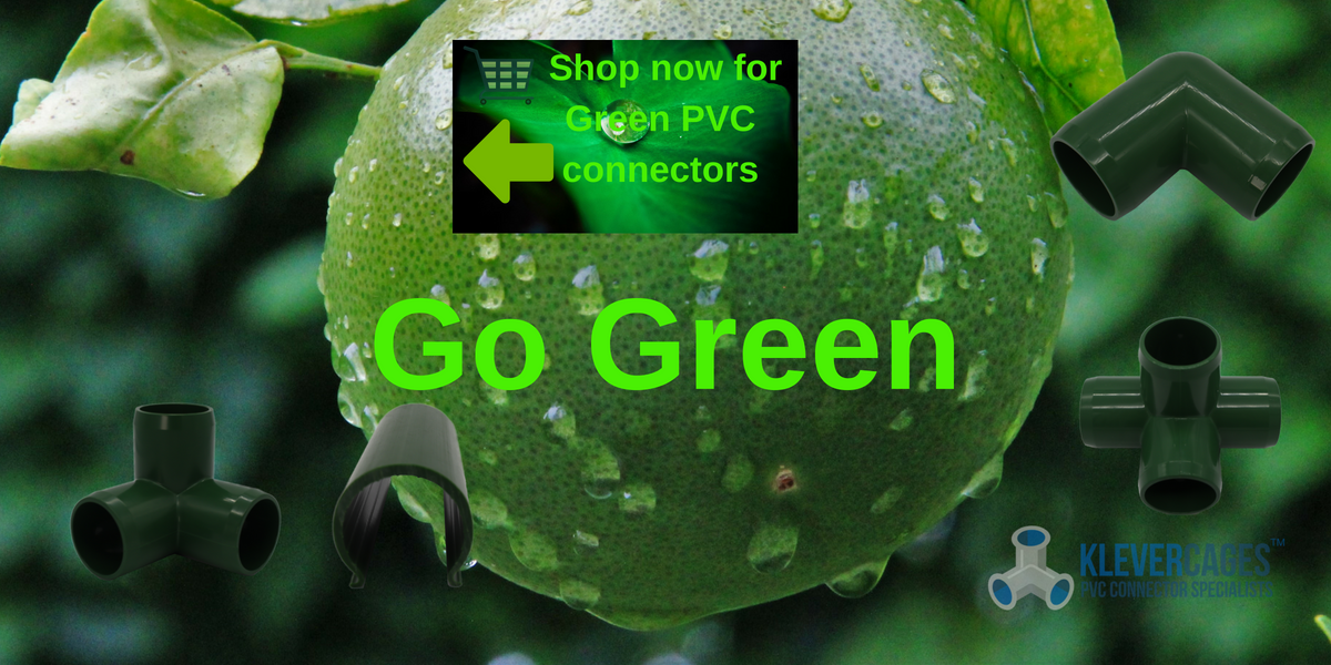 Green PVC connectors