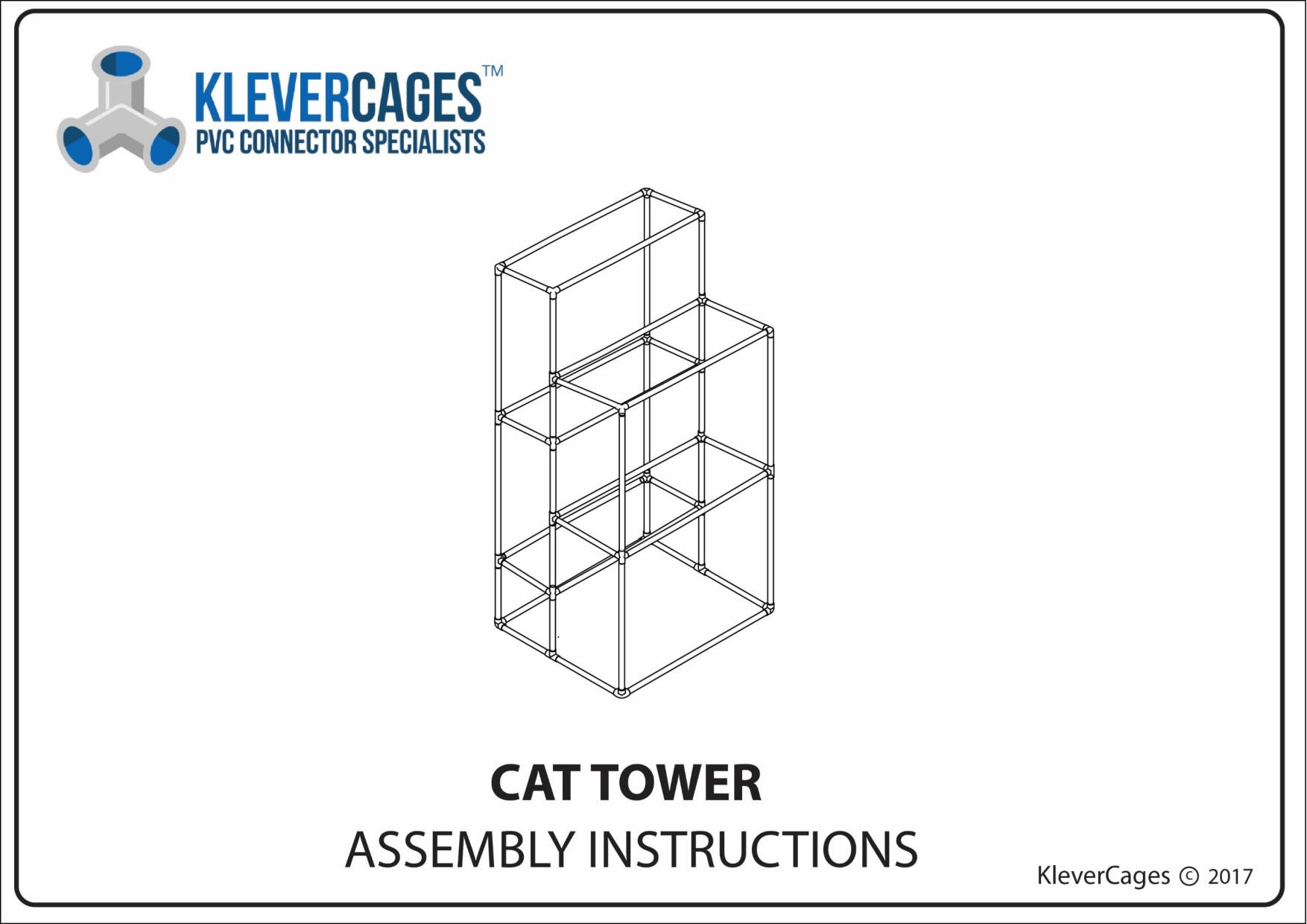 PVC cat tower plan easy to make go to www.klevercages.com.au
