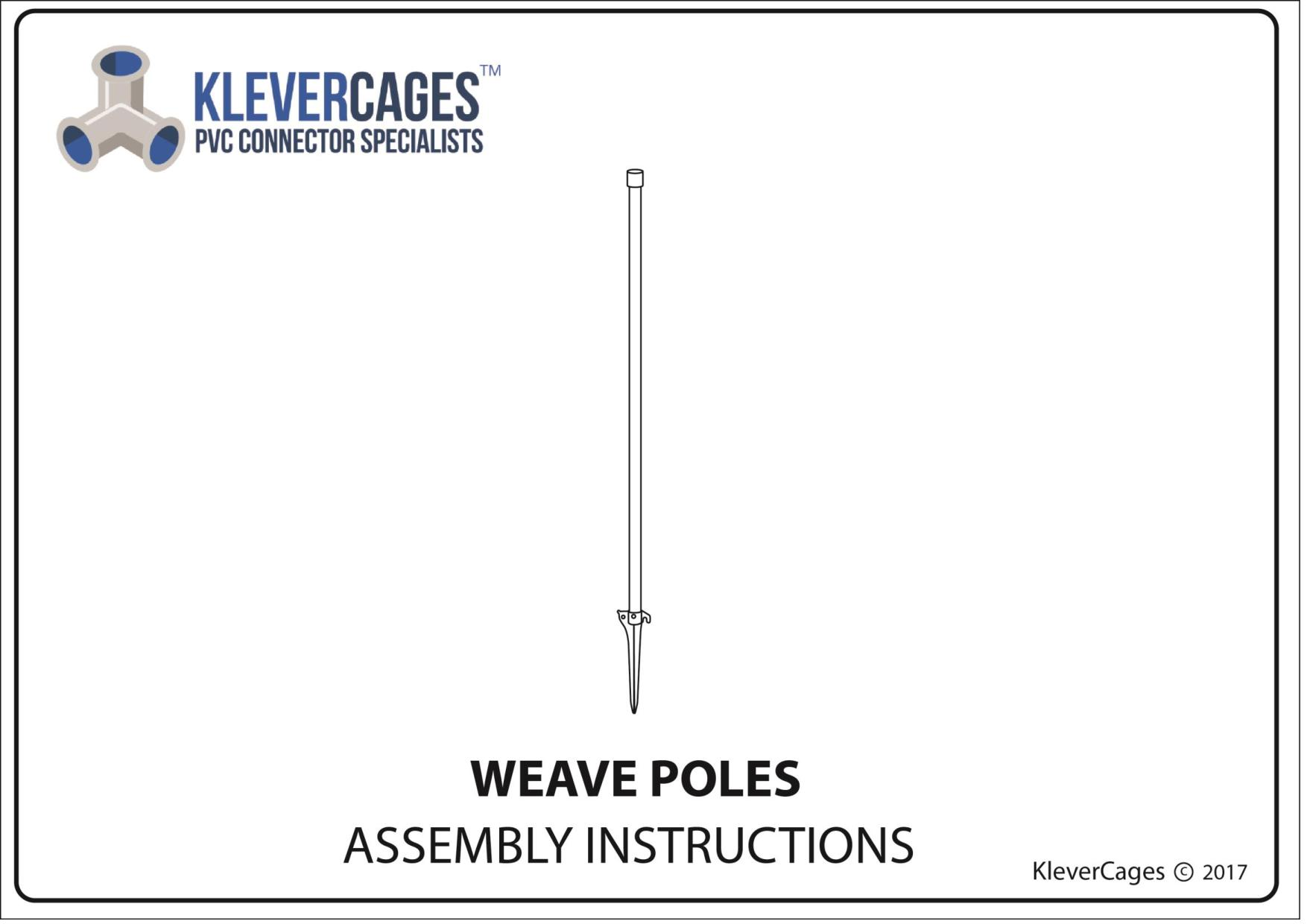 Dog agility weave poles PVC from Klever Cages perfect for practice for your next show