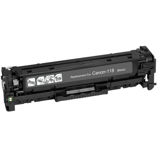 Remanufactured replacement for Canon 118 (2662B002AA) black laser toner cartridge