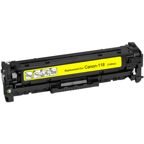 Remanufactured replacement for Canon 118 (2659B002AA) yellow laser toner cartridge