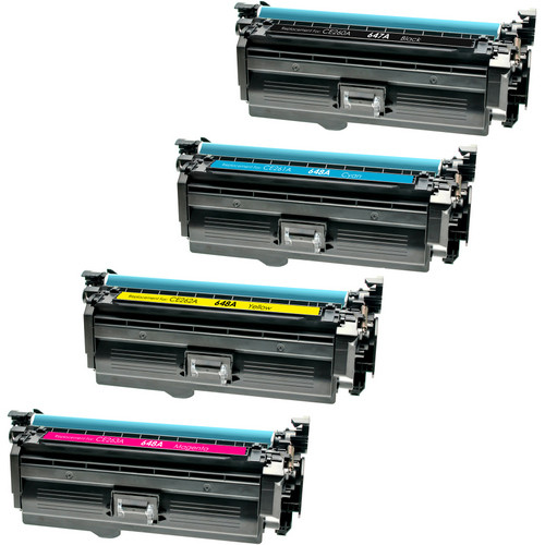 4 Pack - Compatible replacement for HP 647A and HP 648A (CE260-CE261-CE262-CE263) series laser toner cartridges