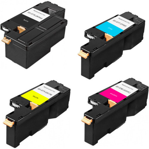 4 Pack - Remanufactured replacement for Dell 331-0777 series laser toner cartridges