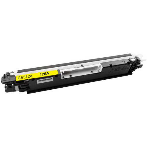 Remanufactured replacement for HP 126A (CE312A) yellow laser toner cartridge