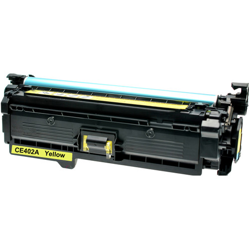 Remanufactured replacement for HP 507A (CE402A) yellow laser toner cartridge