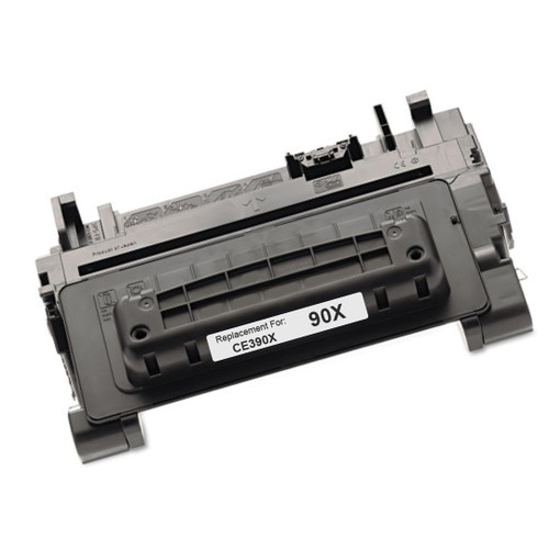 High yield - Remanufactured replacement for HP 90X (CE390X) black laser toner cartridge