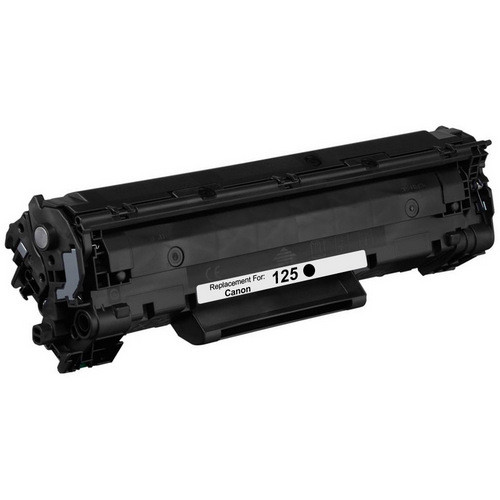 Remanufactured replacement for Canon 125 (3484B001AA) black laser toner cartridge
