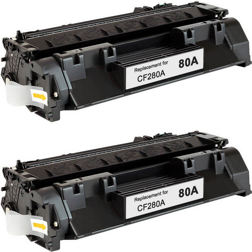 Twin Pack - Standard yield remanufactured replacement for HP 80A (CF280A) black laser toner cartridges