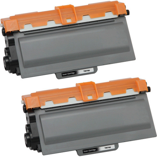 Twin Pack - Compatible replacement for Brother TN750 black laser toner cartridge