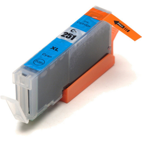 Compatible replacement for Canon Cli-251XLC (6449B001) cyan ink cartridge