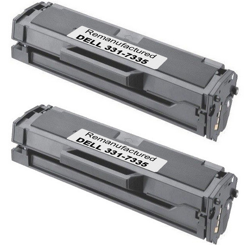 Twin Pack - Remanufactured replacement for Dell 331-7335 (HF442) black laser toner cartridges