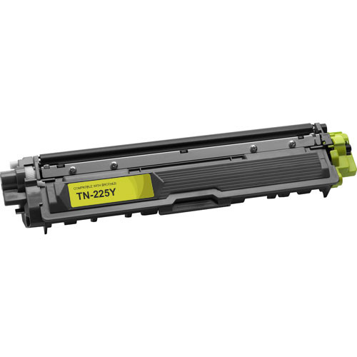 Compatible replacement for Brother TN225Y yellow laser toner cartridge