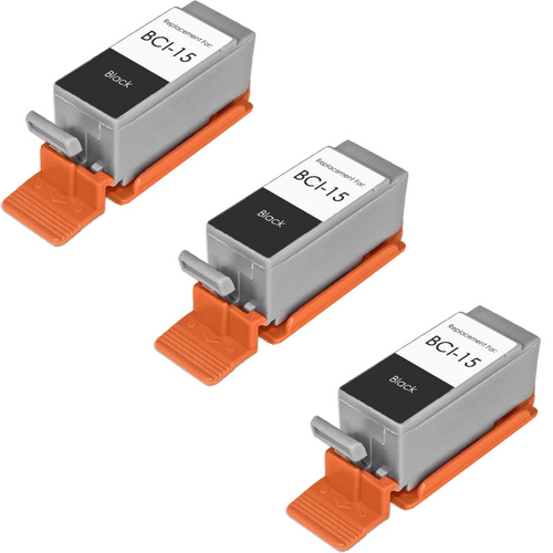 Canon BCI-15 (8190A003) black ink cartridges - 3 Pack