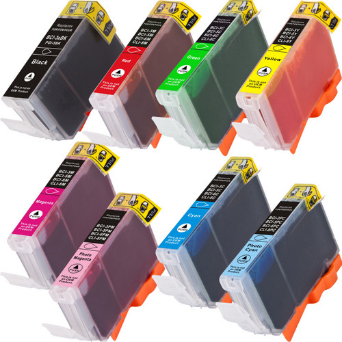 8 Pack - Canon BCI-6 series ink cartridges
