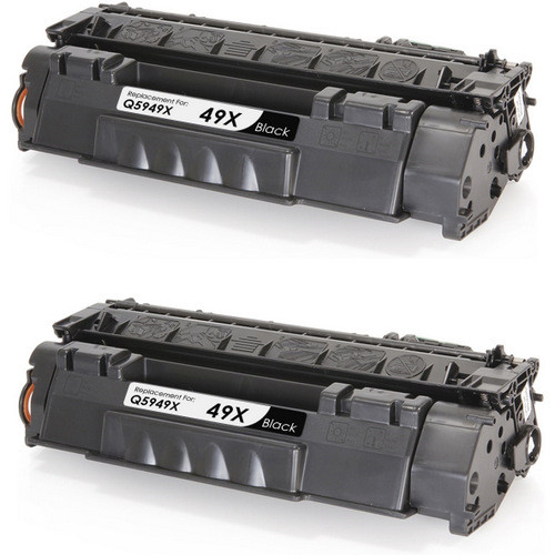 Twin Pack - Remanufactured replacement for HP 49X (Q5949X) black laser toner cartridge