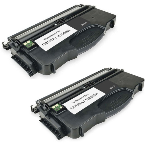 Twin Pack - Remanufactured replacement for Lexmark 12015SA and 12035SA (E120)