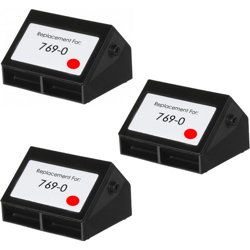Pitney-Bowes 769-0 red ink cartridges -3 Pack