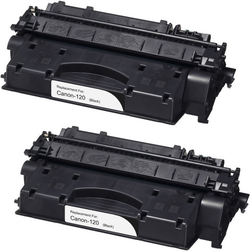 Twin Pack - Remanufactured replacement for Canon 120 (2617B001AA) black laser toner cartridge