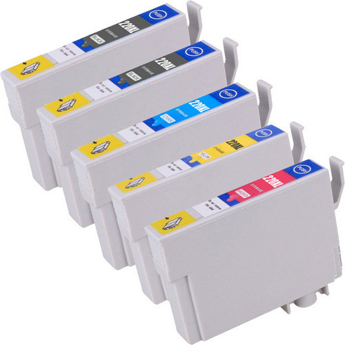 Epson 220XL High Yield Combo Pack of 5, Includes 2 black, 1 cyan, 1 magenta and 1 yellow