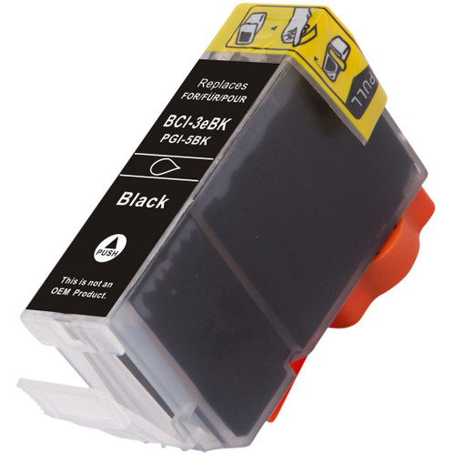 Compatible replacement for Canon BCI-3eBK (4479A003) black ink cartridge