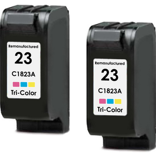 Twin Pack - Remanufactured replacement for HP 23 (C1823A) color ink cartridges