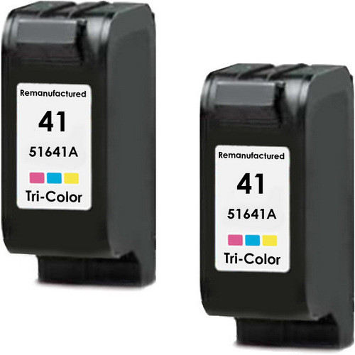 Twin Pack - Remanufactured replacement for HP 41 (51641A) color ink cartridges